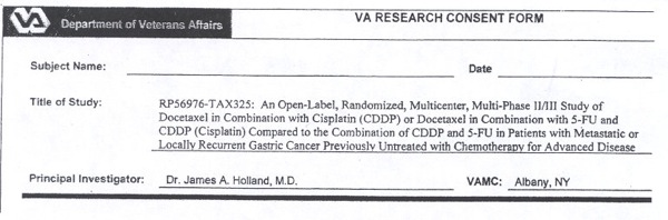 VA Research Consent Form